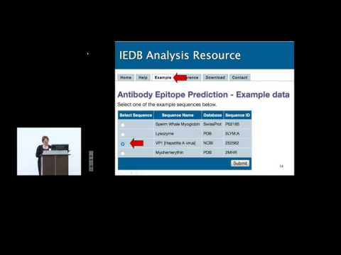 Immune Epitope Database (IEDB) 2015 User Workshop - B Cell Epitope Prediction Tools