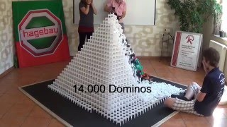 World Record Domino Pyramid 28x28 Trailer
