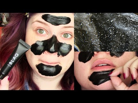 BLAQ BLACKHEAD REMOVING CHARCOAL MASK DEMO & REVIEW