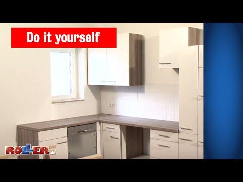 Küchen-Arbeitsplatte montieren - ROLLER Do it yourself