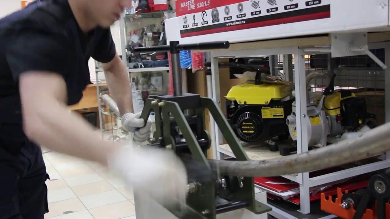 Трубогиб (профилегиб) ручной Победит Т-60 - YouTube