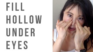 How to fix hollowness under the eyes   Fill up cheekbones so the hollowness disappear!