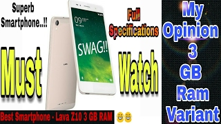 Lava Z10 Gets an Upgrade With 3GB RAM Available at Rs 11 500 My Opinion