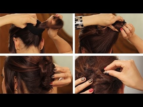 HOW TO: Amy Adams French Twist from the Oscars Another Hairstyle With a Sock thumbnail