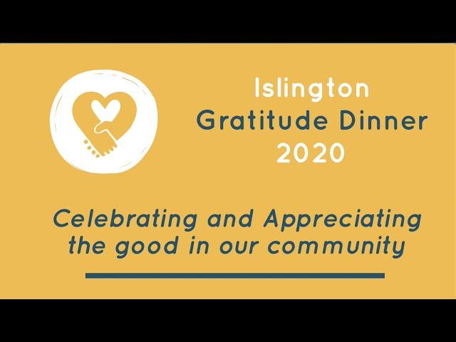Islington Gratitude Dinner 2020