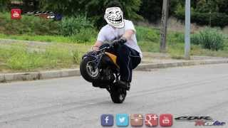 ✔ Wheelies on a MiniMoto / PocketBike 50cc