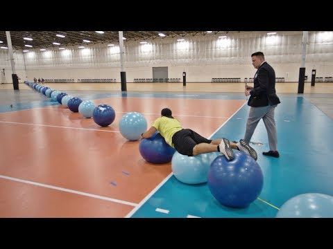 DZL - World Record: Exercise Ball Surfing