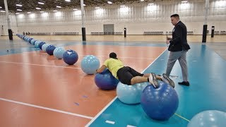 World Record Exercise Ball Surfing