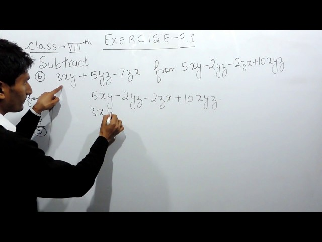 Exercise 9.1 - Question 4 b NCERT Solutions for Class 8th Maths Algebraic Expressions