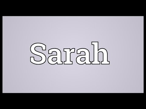 Sarah Meaning