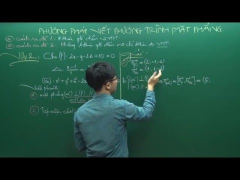 Phương pháp viết phương trình mặt phẳng