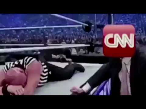 Donald J. Trump unleashes on 'Fake News' CNN with bizarre wrestling video