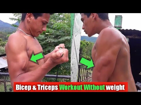 Bicep & Triceps Workout without Weights | Poor man's gym | ANISH FITNESS |