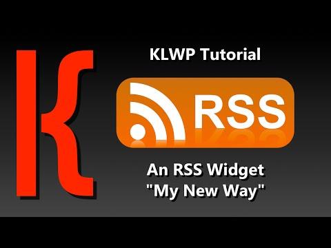 KLWP/KWGT Tutorial - RSS Widgets