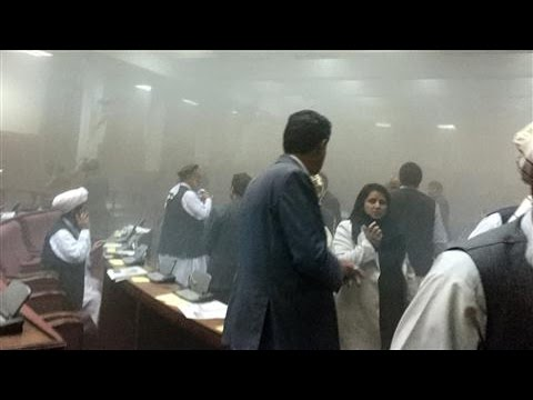 Video Inside Afghan Parliament as Taliban Bomb Explodes
