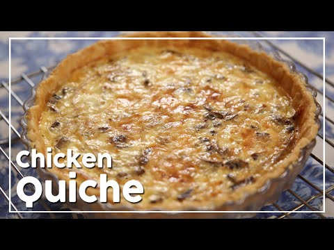 Chicken And Mushroom Quiche - My Recipe Book By Tarika Singh