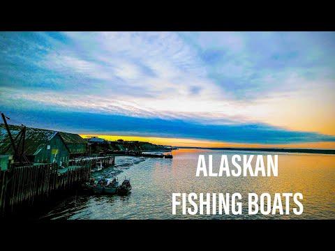 ALASKAN FISHING BOATS ON THE NAKNEK RIVER-BRISTOL BAY-ALASKA