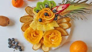 Красивая фруктовая нарезка на День Рождения или иной Праздник