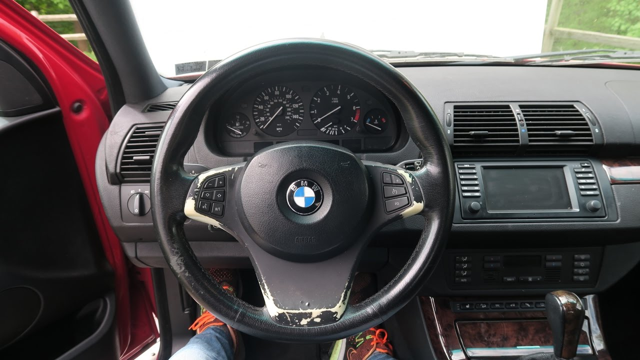 Bmw X5 Airbag And Sport Steering Wheel Removal Diy 3 0i 4