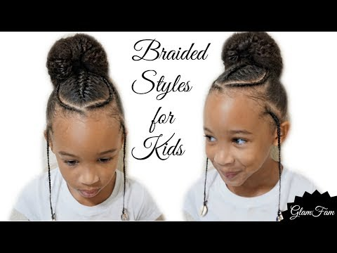 Children's Braided Hairstyle With a Bun