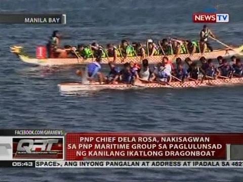 QRT: Dela Rosa, nakisagwan sa PNP Maritime Group sa paglulunsad ng kanilang ikatlong dragonboat