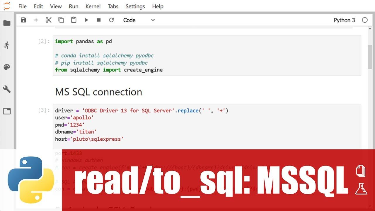 สอน pandas: save DataFrame ไปเป็นตารางใน MS SQL Server