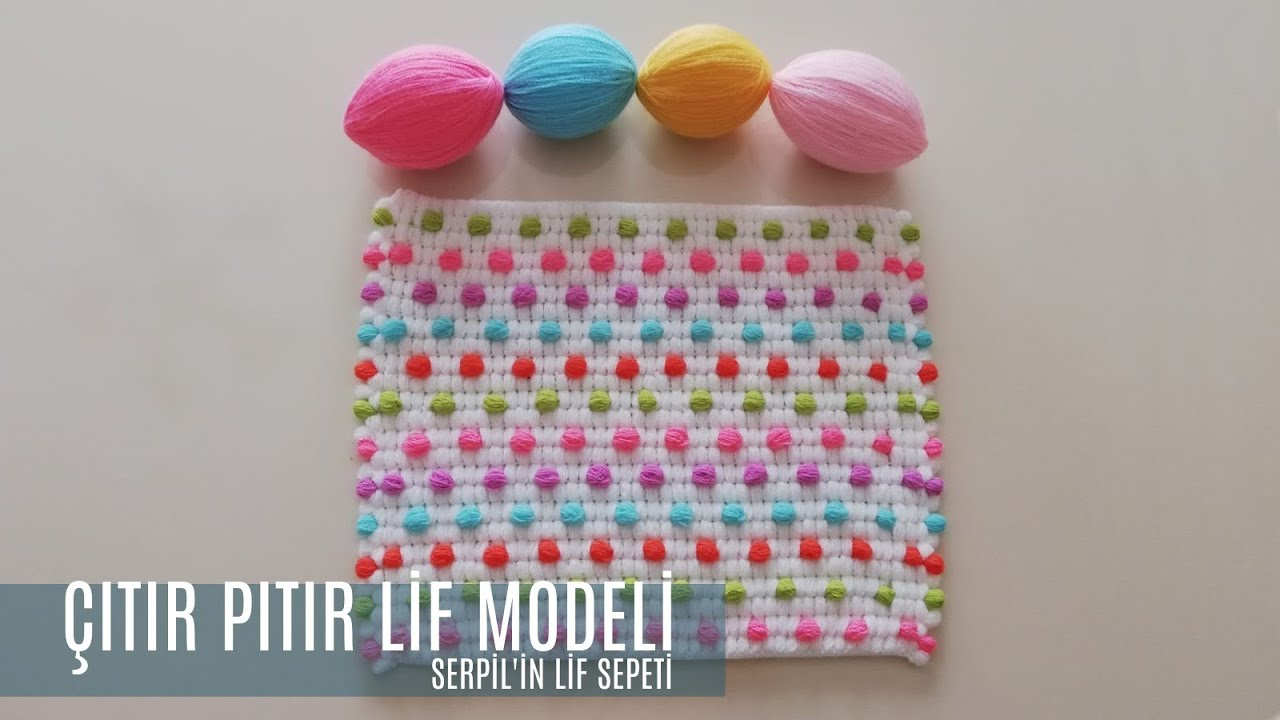 Serpilin Lif Sepeti - Rengarenk Kalan İplerle Kolay Lif Modeli - Yeni Tasarım # Lif Modelim
