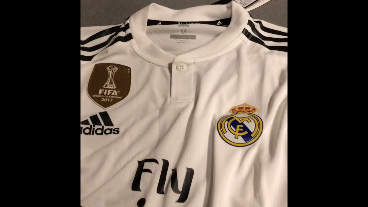 online retailer 939f3 3afd8 Real Madrid 2018/2019 Home Jersey Unboxing/Review
