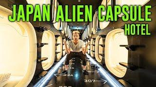 Sleeping In a Alien Capsule Hotel - Area 51 Vibes (Japan)