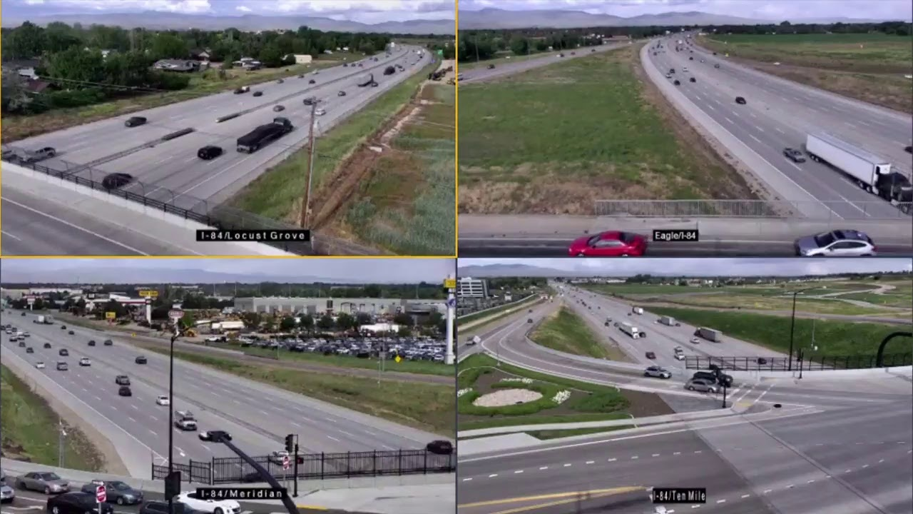 Live Traffic Cams: I-84 crash in Meridian, Idaho, near Eagle Road