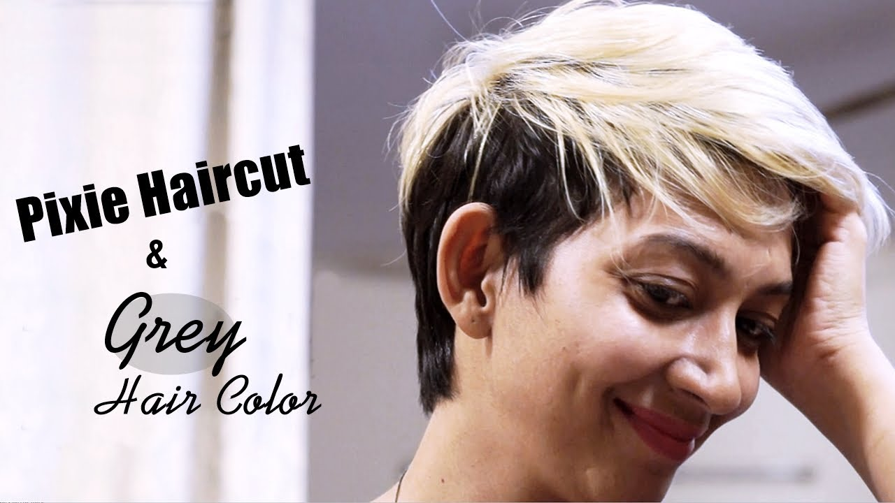 pixie haircut & grey hair color - part 1 | indian youtuber