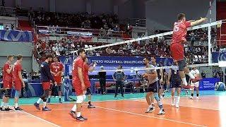 Волейбол. Блок. Сборная России и сборная Ирана