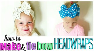 2 WAYS TO MAKE AND TIE BOW HEADBANDS FOR ALL AGES/ DIY HEADBANDS