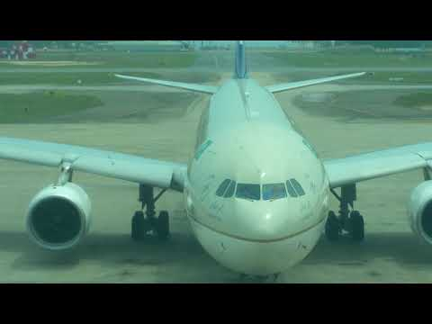Saudi Arabian Airbus A330-300 arriving at Trivandrum (TRV) Airport