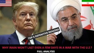 U.S vs IRAN - WHY IRAIN WON'T LAST EVEN A FEW DAYS IN A WAR WITH THE U.S ?