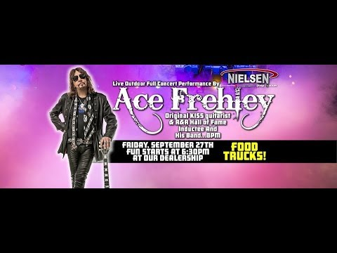 Doug & Scarpetti - ACE FREHLEY Plays Free Concert At Car Dealership In New Jersey (Video)