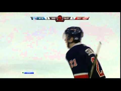 [HD] Goal Derek Stepan (Rangers & Red Wings) NHL 02/7/11