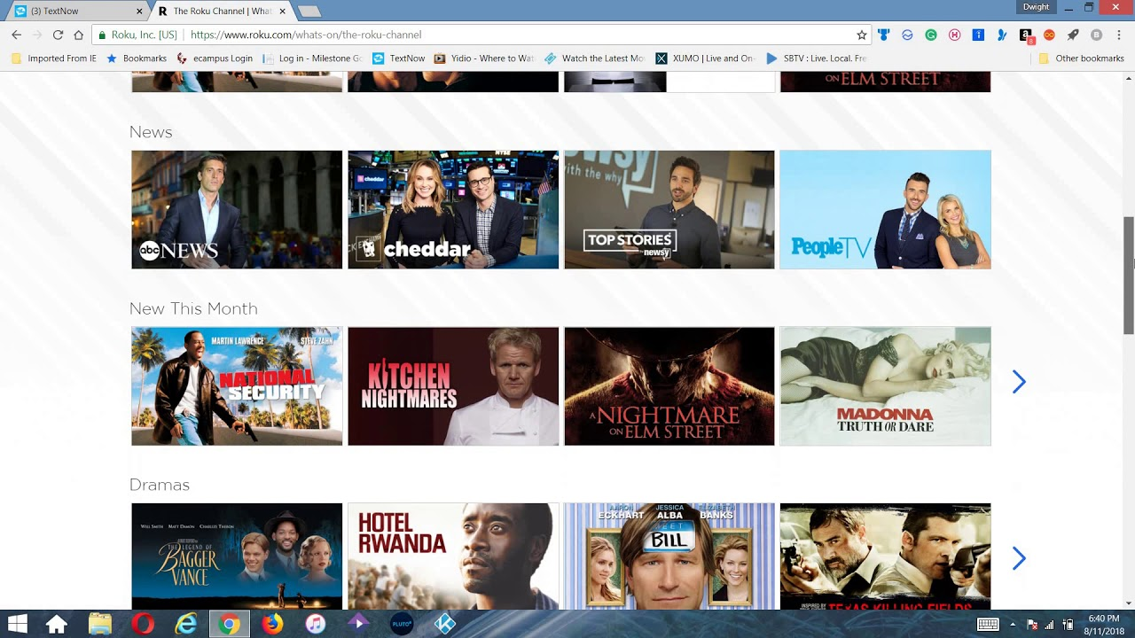Stream the Roku Channel Now On the Web For FREE!