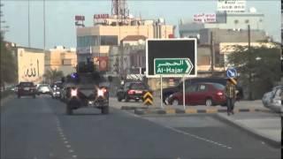 اعداد كبيرة من الآليات تهاجم المتظاهرين بالقرب من دوار القدم 4/4/2014 Bahrain
