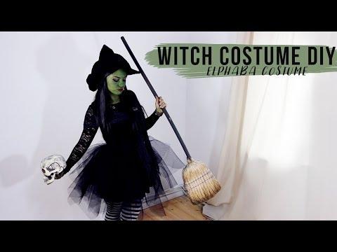 DIY Witch Costume Tutorial - Elphaba Wicked Halloween Dress