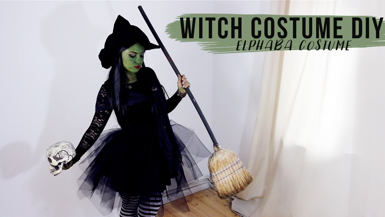 Diy Witch Costume Tutorial Elphaba Wicked Halloween Dress