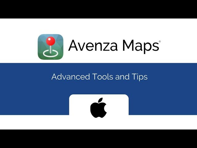 Avenza Maps Advanced Tools and Tips for iOS