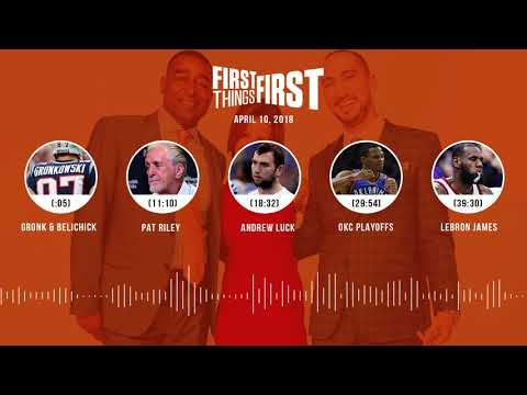 First Things First audio podcast(4.10.18) Cris Carter, Nick Wright, Jenna Wolfe | FIRST THINGS FIRST