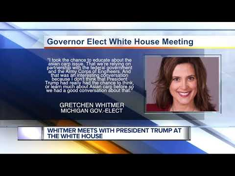 Gov.-elect Gretchen Whitmer meets with President Trump at the White House