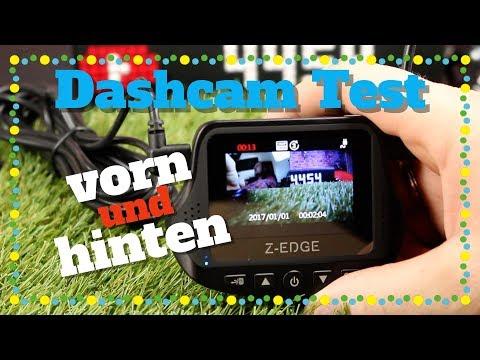🔴Z-EDGE  DASHCAM FÜR VORNE UND HINTEN (TEST 2019 DEUTSCH )