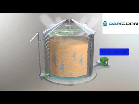 SUKUP stirring silo, Dancorn omrøresilo, Silotrockner