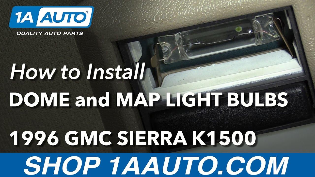 How To Replace Dome Map Light Bulbs 88 98 Gmc K1500 Youtube 1997 Safari Fuse Box Diagram