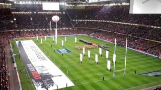 Welsh National Anthem Millennium Stadium Feb 2012