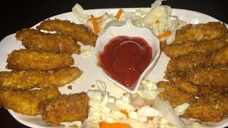 Fried Chicken Fingers ( KFC Style ) Recipe by RJ Kitchen
