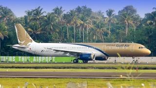 Gulf Air Airbus A321 takeoff from Cochin International Airport [HD]